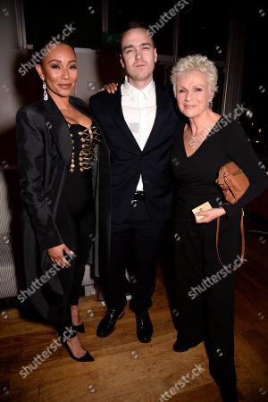 Melanie Brown, David Challen and Dame Julie Walters