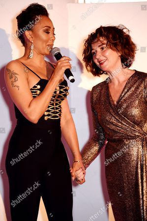 Editorial photo of Women's Aid and Skylon restaurant saw Mel B and Dame Julie Walters host fashion show and charity dinner celebrating International Women's Day, London, UK - 06 Mar 2019