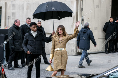 Italian actress Elisa Sednaoui leaves the Grand Palais after attending the presentation of the Fall/Winter 2019/20 Women's collection by the late German designer Karl Lagerfeld for Chanel fashion house during the Paris Fashion Week, in Paris, France, 05 March 2019. Karl Lagerfeld died aged 85 on 19 February 2019. His final collection for Chanel is presented at the Grand Palais on the last day of the Paris Fashion Week.