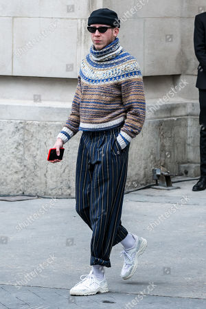 French singer Eddy de Pretto leaves the Grand Palais after attending the presentation of the Fall/Winter 2019/20 Women's collection by the late German designer Karl Lagerfeld for Chanel fashion house during the Paris Fashion Week, in Paris, France, 05 March 2019. Karl Lagerfeld died aged 85 on 19 February 2019. His final collection for Chanel is presented at the Grand Palais on the last day of the Paris Fashion Week.