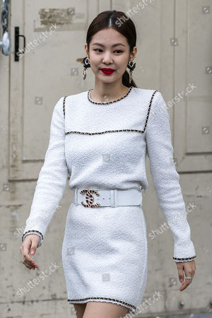 South Korean rapper Jennie Kim leaves the Grand Palais after attending the presentation of the Fall/Winter 2019/20 Women's collection by the late German designer Karl Lagerfeld for Chanel fashion house during the Paris Fashion Week, in Paris, France, 05 March 2019. Karl Lagerfeld died aged 85 on 19 February 2019. His final collection for Chanel is presented at the Grand Palais on the last day of the Paris Fashion Week.