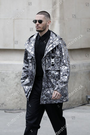 French model Baptiste Giabiconi leaves the Grand Palais after attending the presentation of the Fall/Winter 2019/20 Women's collection by the late German designer Karl Lagerfeld for Chanel fashion house during the Paris Fashion Week, in Paris, France, 05 March 2019. Karl Lagerfeld died aged 85 on 19 February 2019. His final collection for Chanel is presented at the Grand Palais on the last day of the Paris Fashion Week.
