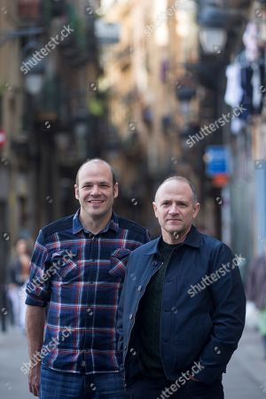 US filmmakers and brothers David (R) and Nathan Zellner pose for the photographers shortly before the presentation of their retrospective as part of American Independent Film Festival in Barcelona, northeastern Spain, 05 March 2019.
