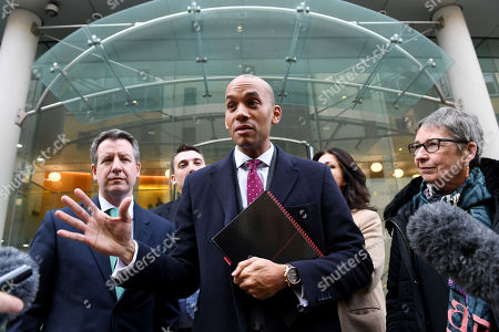 Ann Coffey, Chuka Umunna, Gavin Shuker, Chris Leslie and Heidi Allen of the The Independent Group, at the Electoral Commission