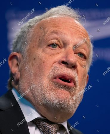 Former US Labor Secretary Robert Reich speaks at an event with the Democratic Senator of Minnesota and 2020 presidential candidate Amy Klobuchar at the Center for American Progress in Washington, DC, USA, 05 March 2019. Klobuchar spoke on the concentration of economic power and its affect on democracy.