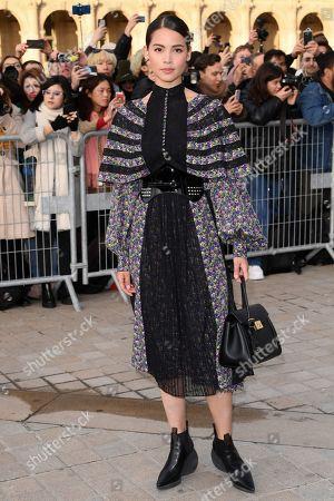 Editorial image of Louis Vuitton show, Arrivals, Fall Winter 2019, Paris Fashion Week, France - 05 Mar 2019