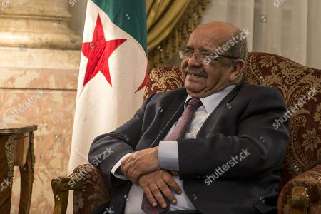 Editorial image of Foreign ministers of Egypt, Tunisia and Algeria meet on Libya, Cairo - 05 Mar 2019