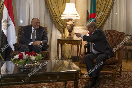Editorial picture of Foreign ministers of Egypt, Tunisia and Algeria meet on Libya, Cairo - 05 Mar 2019