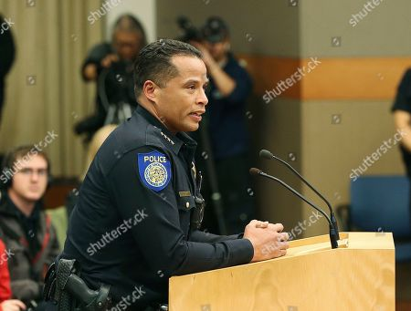 Xavier Becerra. Daniel Hahn, the chief of the Sacramento Police Department, speaks at a City Council meeting in Sacramento, Calif., about the arrest of protesters following the decision by the Sacramento County District Attorney to not file criminal charges against the two police officers involved in the fatal shooting of Stephon Clark and unarmed vandalism suspect, last year