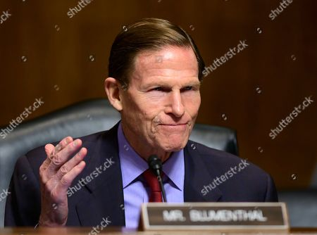 """United States Senator Richard Blumenthal (Democrat of Connecticut) during the United States Senate Committee on the Judiciary Subcommittee on Antitrust, Competition Policy, and Consumer Rights hearing on """"Does America Have a Monopoly Problem': Examining Concentration and Competition in the US Economy"""" on Capitol Hill in Washington, DC."""