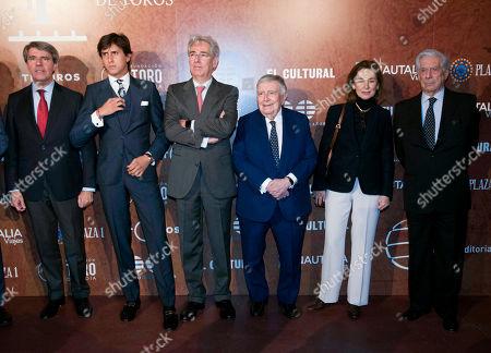 Angel Garrido, Roca Rey, Jose Maria Anson and Mario Vargas Llosa