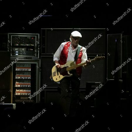 Bassist John McVie performs onstage with Fleetwood Mac at the Capital One Arena, in Washington