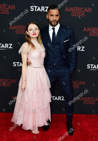 Emily Browning and Ricky Whittle