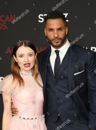 Stock Image of Emily Browning, Ricky Whittle