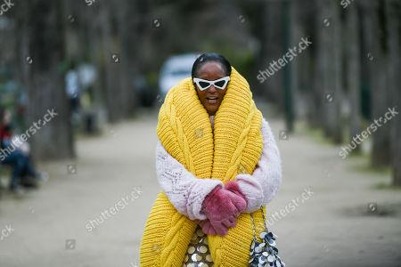 Editorial photo of Street Style, Fall Winter 2019, Paris Fashion Week, France - 05 Mar 2019