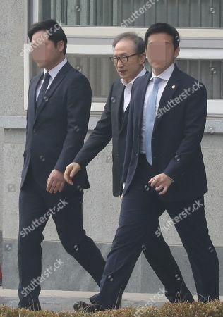 Editorial picture of Former President Lee released on bail, Seoul, Korea - 06 Mar 2019