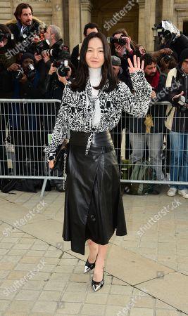 Editorial photo of Louis Vuitton show, Arrivals, Fall Winter 2019, Paris Fashion Week, France - 05 Mar 2019