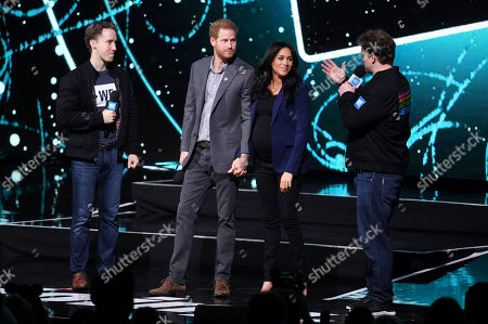 Prince Harry, Meghan Duchess of Sussex, Craig Kielburger and Marc Kielburger