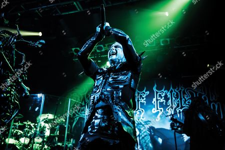 London United Kingdom - November 10: Frontman Dani Filth Of British Gothic Metal Group Cradle Of Filth Performing Live On Stage At The Electric Ballroom In London On November 10