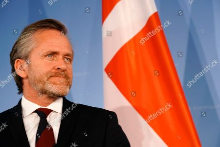 Danish Foreign Minister Anders Samuelsen looks on during a joint press statement with the German foreign minister (not pictured) in Berlin, Germany, 06 March 2019.
