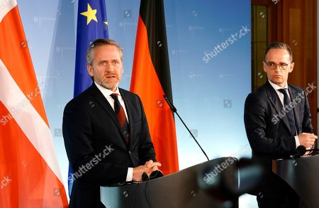 Danish Foreign Minister Anders Samuelsen (L) and German Foreign Minister Heiko Maas (R) attend a joint press statement in Berlin, Germany, 06 March 2019.