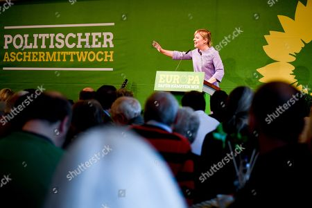 Bavarian Alliance 90/The Greens party fraction leader Katharina Schulze speaks at the Political Ash Wednesday gathering of the Greens Party in Landshut, Germany, 06 March 2019. All major German political parties traditionally hold rallies on Ash Wednesday where rhethoric is usually heated and closely watched by the media.