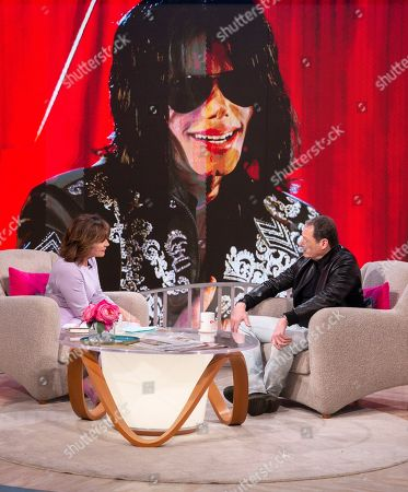 Stock Picture of Lorraine Kelly and Mark Lester