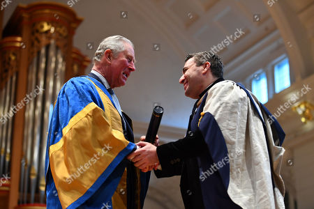 Prince Charles presenting a Doctor of Music to Maxim Vengerov during the Royal College of Music's annual awards ceremony