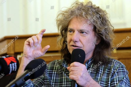 Pat Metheny attends a press conference before his concert at the LOTOS Jazz Festival in Bielsko-Biala, southern Poland, 06 March 2019. The festival will run until 10 March.