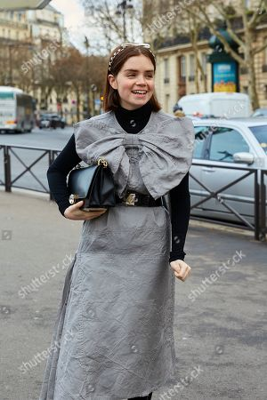 Editorial picture of Street Style, Fall Winter 2019, Paris Fashion Week, France - 05 Mar 2019
