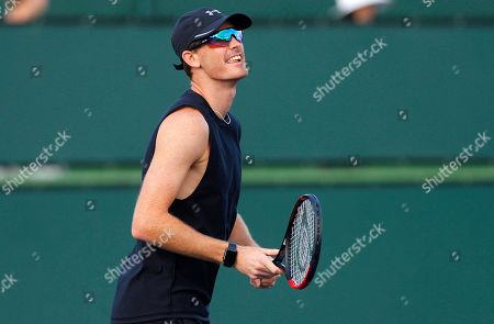 Stock Photo of Jamie Murray of Great Britain in action during practice