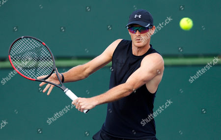 Jamie Murray of Great Britain in action