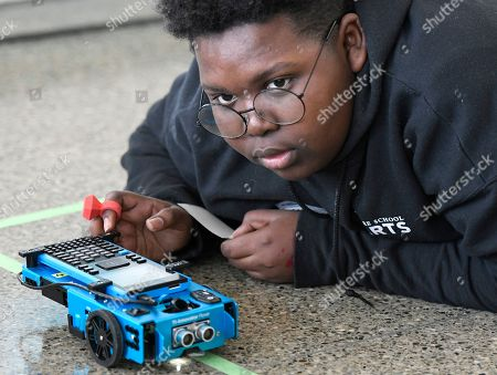 Editorial picture of Texas Instruments STEM Squad in , Baltimore, USA - 06 Mar 2019