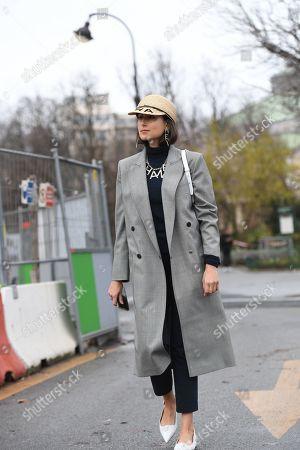 Editorial image of Street Style, Fall Winter 2019, Paris Fashion Week, France - 05 Mar 2019
