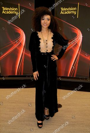 """Judith Hill attends the Television Academy member event """"Perfect Harmony: A Live Performance Celebrating the Impact of Music in Documentaries"""" at the Saban Media Center's Wolf Theatre at the Television Academy on in North Hollywood, Calif"""