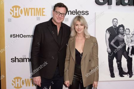 """Bob Saget, Kelly Rizzo. Bob Saget, left, and Kelly Rizzo attend the """"Shameless"""" FYC event at Linwood Dunn Theater, in Los Angeles"""