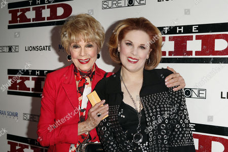 Stock Image of Karen Kramer (L) and Kat Kramer (R) pose for photos as they arrive for the premiere of 'The Kid' at the ArcLight Hollywood in Los Angeles, California, 06 March 2019. The movie 'The Kid' will start screening on 08 March 2019.