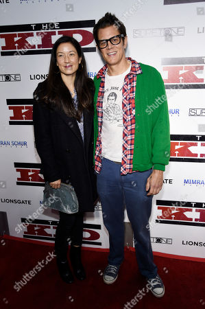 """Johnny Knoxville, Naomi Nelson. Johnny Knoxville and his wife Naomi Nelson pose together at a special screening of the film """"The Kid"""" at the ArcLight Hollywood, in Los Angeles"""