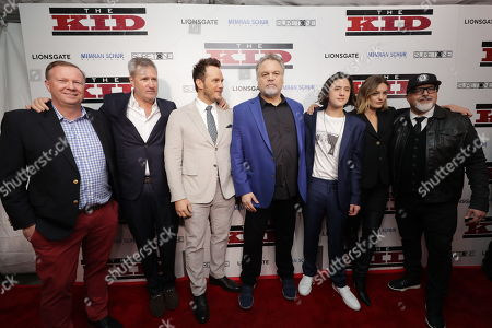 Producer Nick Thurlow, Producer Jordan Schur, Chris Pratt, Vincent D'Onofrio, Jake Schur, Leila George and Producer Sam Maydew
