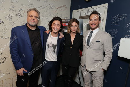 Director Vincent D'Onofrio, Jake Schur, Leila George and Chris Pratt