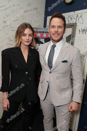 Leila George and Chris Pratt
