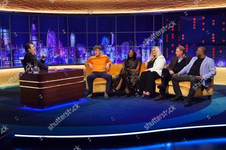 Jonathan Ross, James Acaster, Naomi Campbell, Harry Redknapp, Gemma Collins, Harry Redknapp and John Barnes