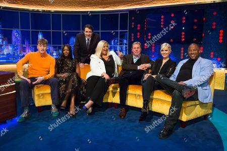 James Acaster, Naomi Campbell, Jonathan Ross, Gemma Collins, Harry Redknapp, Dido and John Barnes