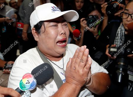A supporter breaks into tears after the Constitutional Court ordered the dissolution of the party for nominating a Thai princess as a prime minister candidate, at the Constitutional Court in Bangkok, Thailand, 07 March 2019. Thai Constitutional Court ordered the dissolution of Thai Raksa Chart Party for nominating Princess Ubolratana as its prime minister candidate for the general election. The court also decided to impose a political ban on 14 party executives for 10 years.