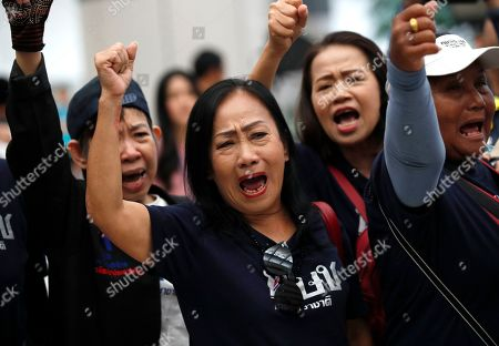 Supporters react after the Constitutional Court ordered the dissolution of the party for nominating a Thai princess as a prime minister candidate, at the Constitutional Court in Bangkok, Thailand, 07 March 2019. Thai Constitutional Court ordered the dissolution of Thai Raksa Chart Party for nominating Princess Ubolratana as its prime minister candidate for the general election. The court also decided to impose a political ban on 14 party executives for 10 years.