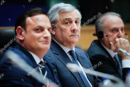 Stock Photo of David Casa, Antonio Tajani, Lorenzo Cesa