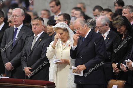 Armand De Decker, Patrick Dewael, Queen Paola, King Albert, Herman Van Rompuy