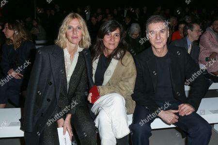 Stock Photo of Sandrine Kiberlain, Emmanuelle Alt and Etienne Daho