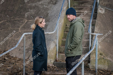 Stock Picture of Morven Christie as Lisa Armstrong and Jonas Armstrong as Sean
