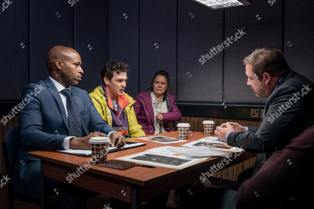 Stock Picture of Matthew McNulty as Nick, Hazel Ellerby as Sue and Dan Ryan as DI Manning